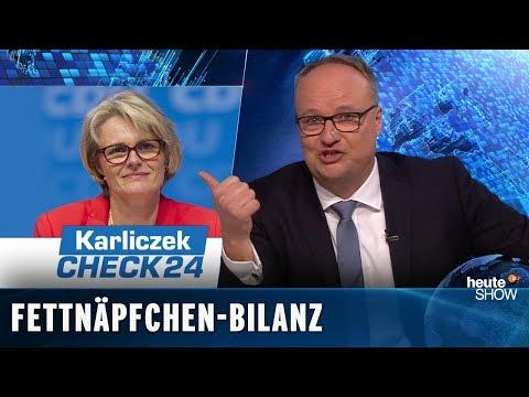 Bildungsministerin Karliczek: Ein Jahr Schnupperpraktikum ist rum | heute-show vom 22.02.2019