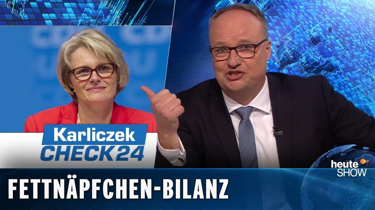 Bildungsministerin Karliczek Ein Jahr Schnupperpraktikum Ist Rum Heute Show Vom 22022019