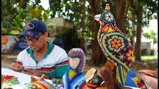 "Bucerias ""Huichol Artist"" Martin Jimenez Garcia & his DaZzling beadwork."