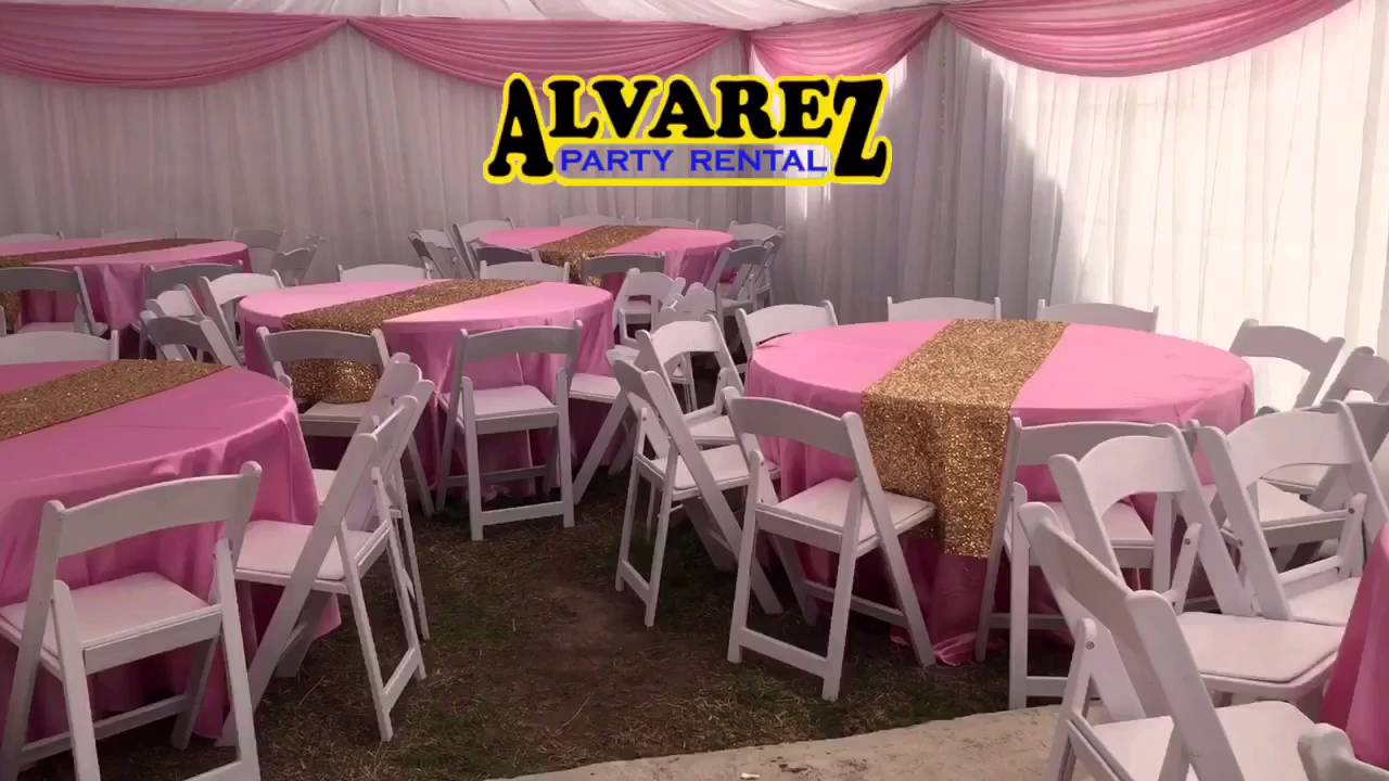 Alvarez Party Rental (white Pink And Gold Babyshower)   YouTube
