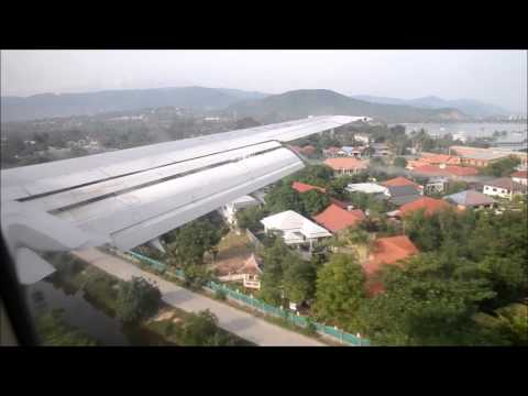 Thai Boeing 737 landing on Koh Samui airport