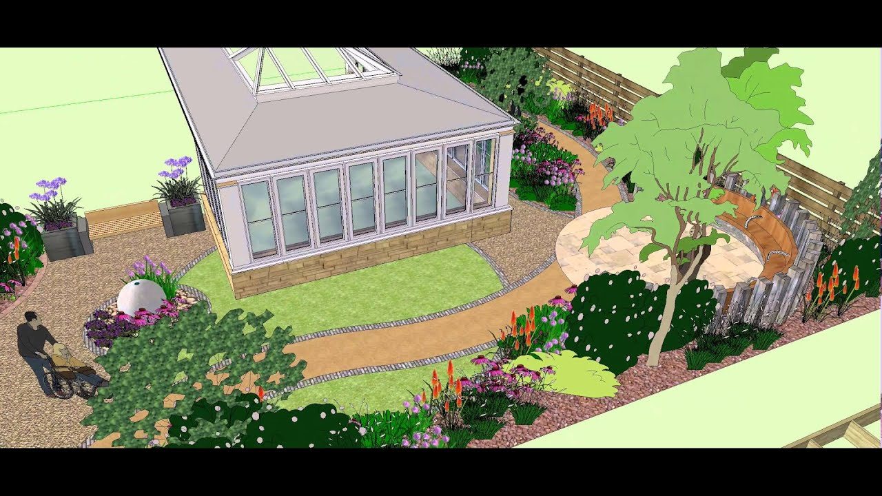 3D Visual Fly Through of Dementia Garden Design in Glasgow YouTube