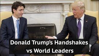 Donald Trump's handshakes vs world leaders