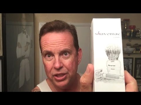 Shavemac Silvertip, Red Marmorate Shave Brush. A Review Of Another Awesome  Brush.