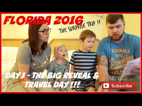 SURPRISE DISNEY VACATION - DAY 1 - THE BIG REVEAL | TRAVEL DAY | VIRGIN ATLANTIC (1/2)