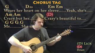 Beautiful Crazy (Luke Combs) Strum Guitar Cover Lesson in G with Chords/Lyrics