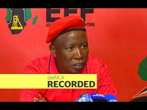 EFF leader Julius Malema briefs the media ahead of party's manifesto launch