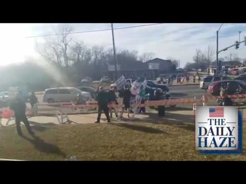 Westboro Baptist Church Protest Derby High School (Raw livestream)