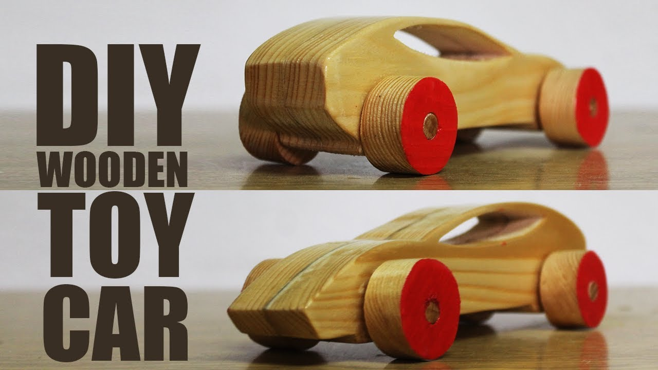 How To Make A Wooden Toy Car Diy Wooden Toys Youtube