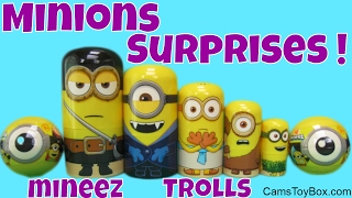 Minions Stacking Cups Mineez Trolls Series 5 Blind Bag Toy Story Minis Despicable Me Surprise Toys