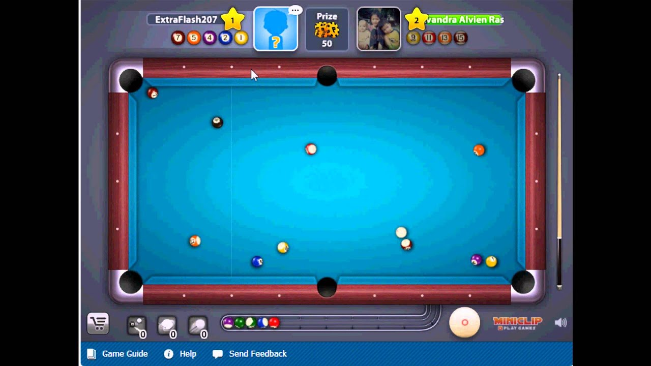 Miniclip: 8 Ball Pool Multiplayer - First Match - YouTube