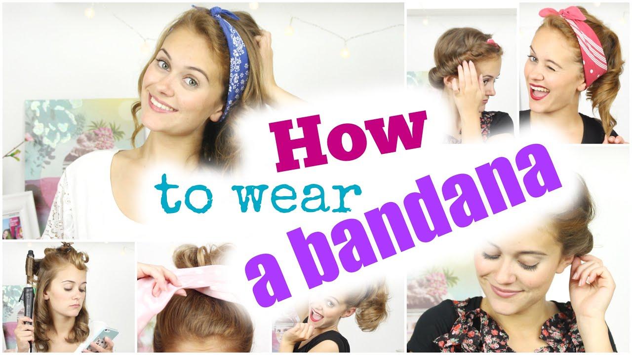5 EINFACHE FRISUREN How To Wear A BANDANA SNUKIEFUL YouTube