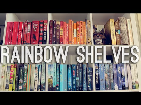 Rainbow Shelves Bookshelf Reorganisation Youtube