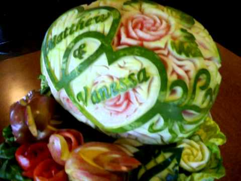 Wedding Fruit Carving Tray By Tuz