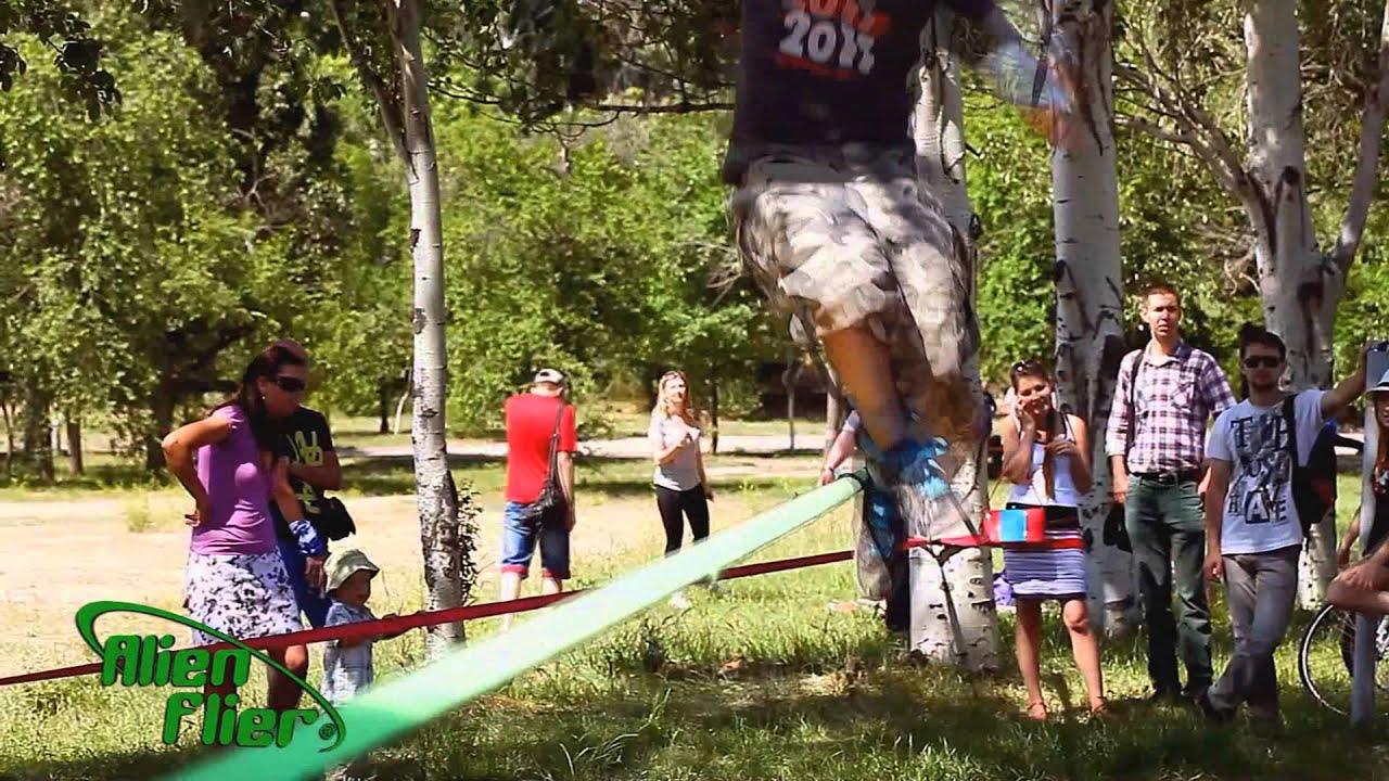 alien flier x2 r backyard zip line youtube