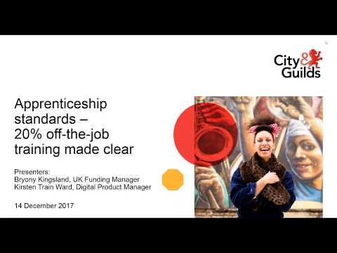 Apprenticeship standards – 20% off- the-job training made clear