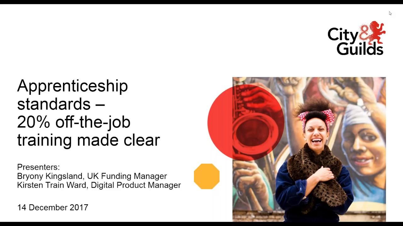 Apprenticeship standards – 20% off- the-job training made ...