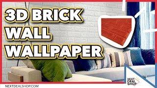 3D Brick Wall Wallpaper - DIY Your Home! - Next Deal Shop