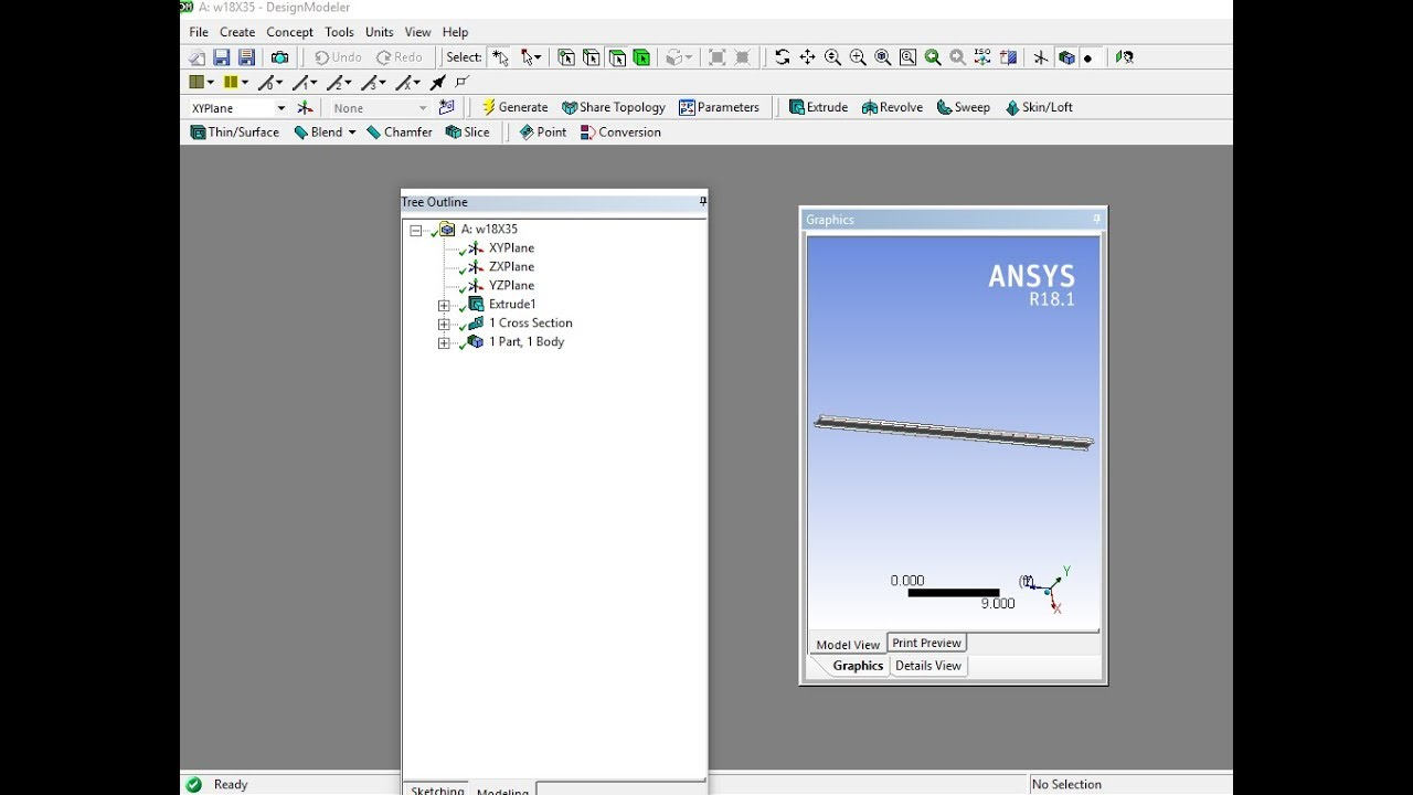 how to fix ansys geomtry display layout in design modeler