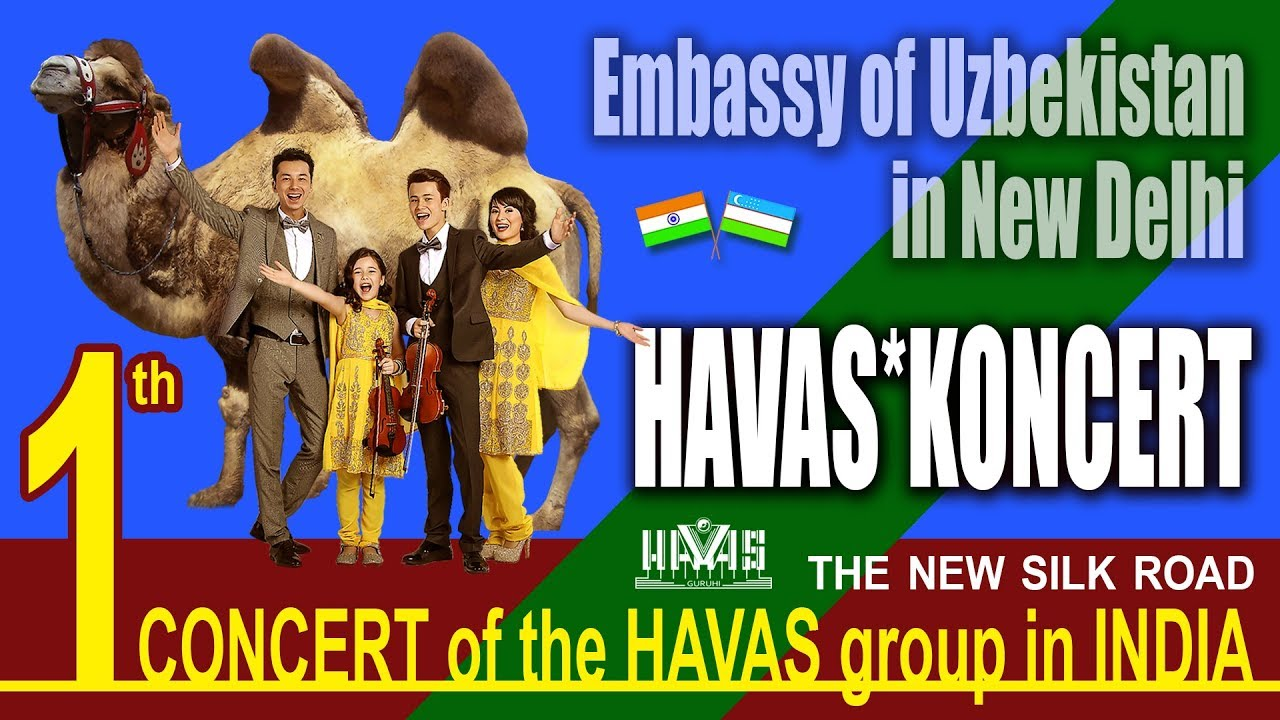 HAVAS guruhi. 1 th CONCERT.  Embassy of Uzbekistan in New Delhi, India. 21.12.2017