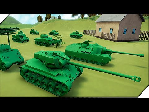 Игра Total Tank Simulator Demo 4 Обзор. Новая нация, техника, компания, карты. Супер танки