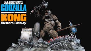 Custom SH MonsterArts Godzilla VS Kong MechaGodzilla (2021) Kong's Victory Diorama - Sorta How To