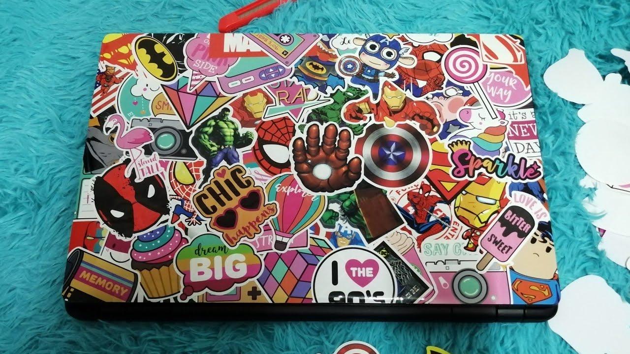 DIY Stickers  Notebook Laptop : สติ๊กเกอร์ฝาผับโน๊ตบุ๊ค