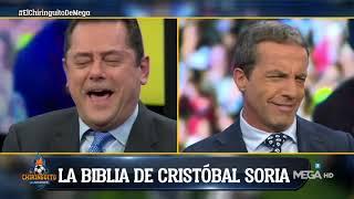 Cristóbal Soria aparece con una 'BIBLIA' de Messi y Roncero LE RETRATA