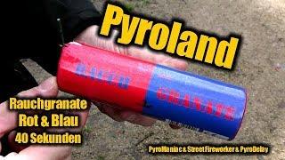 Pyroland Rauchgranate Rot/Blau   PyroManiac & Street Fireworker & PyroDelay