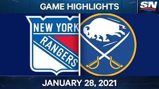 NHL Game Highlights   Rangers vs. Sabres - Jan. 28, 2021