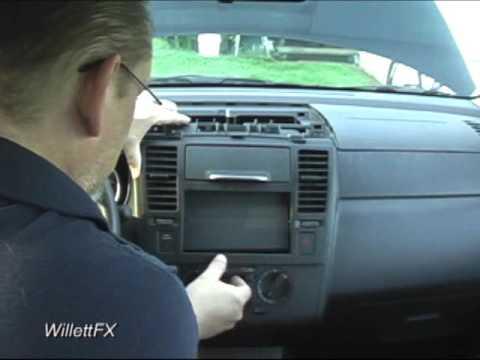 Crutchfield Nissan Versa In Dash Receiver Installationa