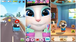 My Talking Hank vs My Talking Tom - My Talking Angela Gameplay