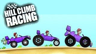 Hill Climb Racing ГАРАЖ СТВОРЮЮ ТАЧКУ САМ монстри авто game kids Мультяшна гра про гонки машинки