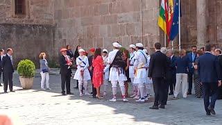 La Reina Letizia durante su visita a San Millán (La Rioja)
