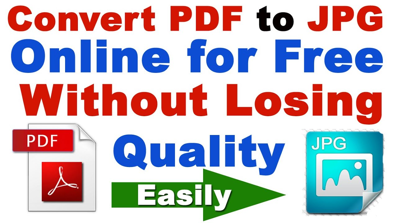 How To Convert Pdf Image Jpg Without Losing Quality Online For Free Converter