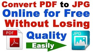How to Convert pdf to Image/JPG Without Losing Quality Online for FREE (pdf to jpg converter)