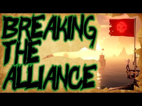 BREAKING THE ALLIANCE // SEA OF THIEVES - Allying with an enemy ship! #BeMorePirate