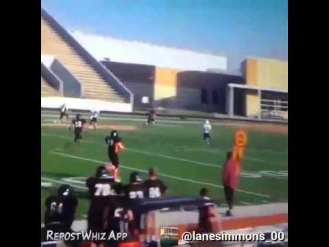Blocker Middle School quarterback 40-yard TD pass
