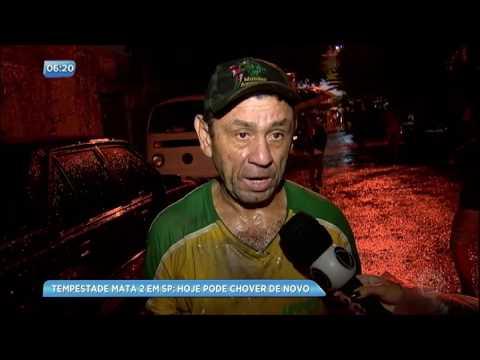 Tempestade mata duas pessoas em São Paulo