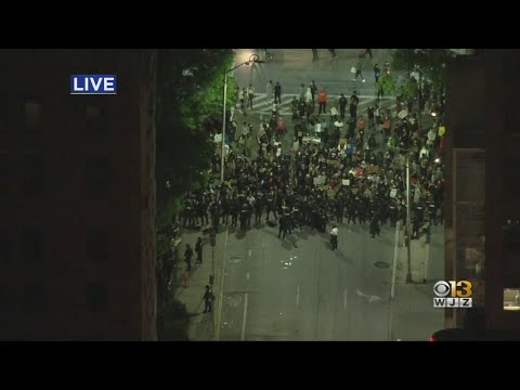 Maryland State Police Called In To Moderate Crowds In Downtown Baltimore