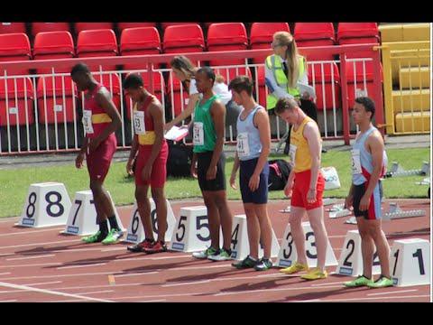 English Schools Athletics Championships 2015 - Boys & Girls Hurdles