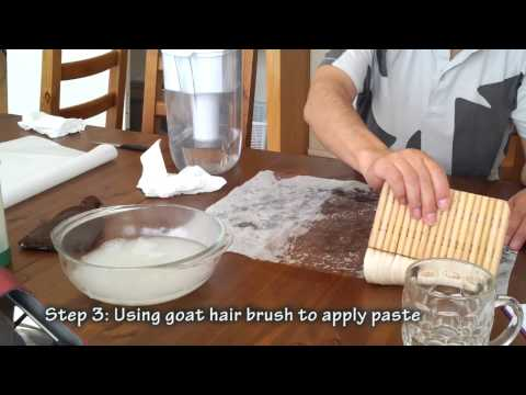 How to Wet Mount Chinese Brush Painting on Rice Paper a Live Workshop with Henry Li