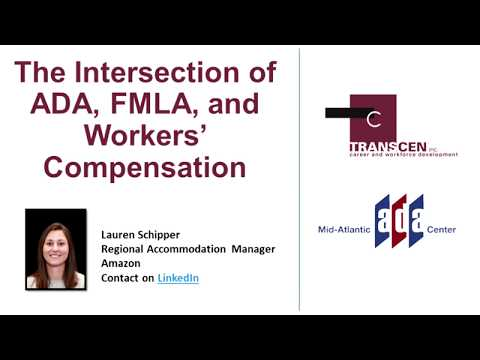 The Intersection Of ADA, FMLA, And Workers' Compensation