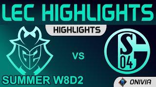 G2 vs S04 Highlights LEC Summer Season 2021 W8D2 G2 Esports vs Schalke 04 by Onivia