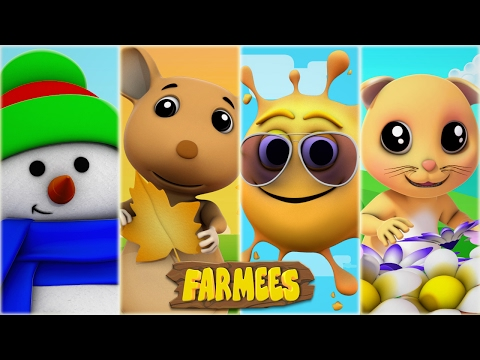 Seasons Song | Nursery Rhymes | Kids Songs | Baby Rhymes | Children Videos by Farmees