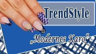 "TrendStyle: Nailart ""Modernes Karo"" Mp3"