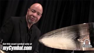 "Sabian 18"" HH Medium Thin Crash Cymbal - Brilliant - Played by Chester Thompson (11807B-1111212N)"