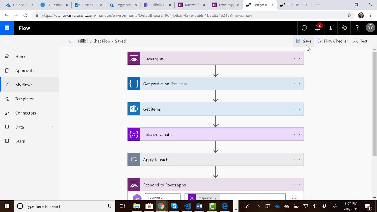 Creating a QnA Chat Bot using LUIS, SharePoint, PowerApps And Flow