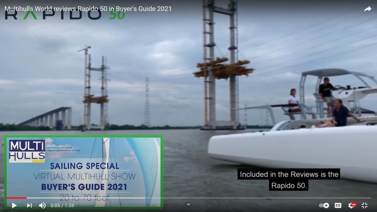 Video: Multihulls World reviews Rapido 50 in Buyer's Guide 2021