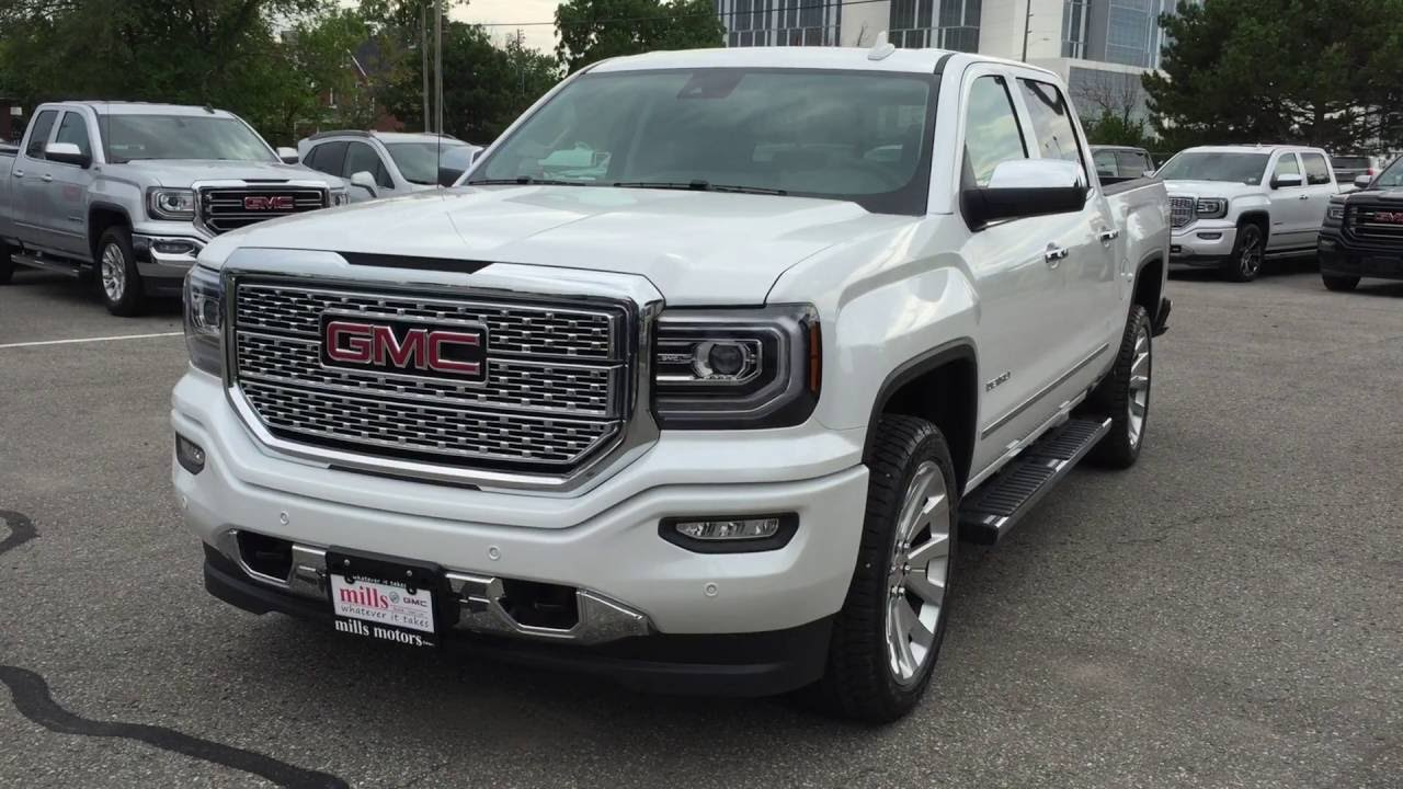 2017 Gmc Sierra 1500 Denali 4wd Crew Cab 22 Rims White Oshawa On Stock 170044